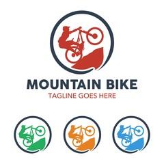 Unique Mountain Bike Illustration Logo