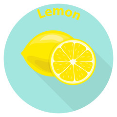 Lemon, sliced slices of lemon, citrus