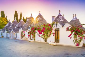 Trulli houses in Alberobello city, Apulia, Italy.