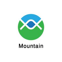 abstract mountain logo