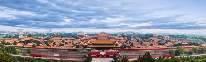 The Forbidden City under blue sky in Beijing,China.