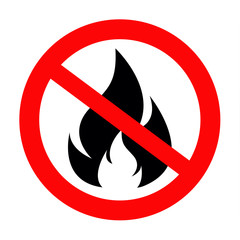 no fire vector sing icon