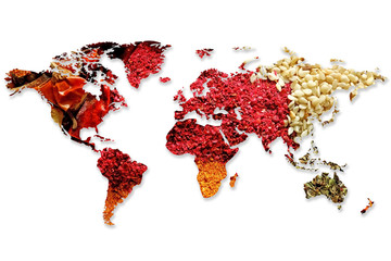 Wall Murals Spices Mix of different flavored spices background