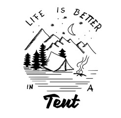 Life is better in a tent