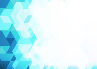 Blue geometric abstract background