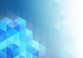 Blue geometric abstract background, vector illustration