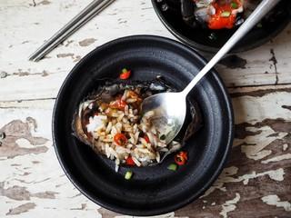Soy sauce marinated crab Korean food