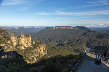 Landscape view of Blue Mountains national park
