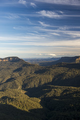 Landscape view of Blue Mountains national park