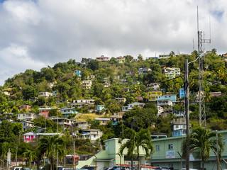 """Karibik, kleine Antillen, Departement Guadeloupe, Dominica, Hauptstadt Roseau, historische Kathedrale """"Our Lady of Fair Haven"""" von Roseau"""