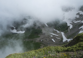View from the mountains in the Caucasus