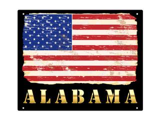 Gold Alabama Enamel Sign