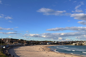Winter Bondi Beach in the afternoon in July
