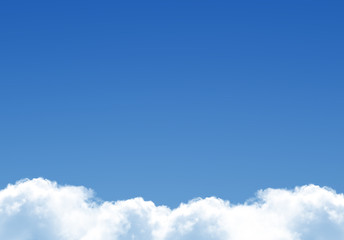 White fluffy clouds template
