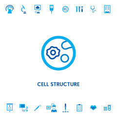 Cell Structure Microscope Vector Icon