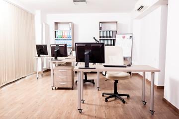 Empty modern business office. Interior design. Open space