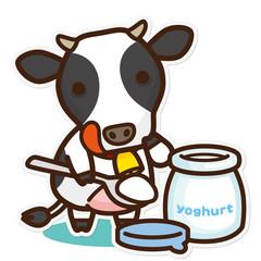 牛と乳製品 ヨーグルト