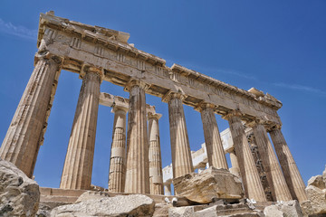 Parthenon is a temple on the Athenian Acropolis, in Athens, Greece.