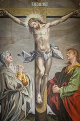 Altarpiece in Jorlunde church from 1613 by an unknown artist