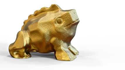 3D rendering.  Golden frog
