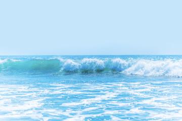 Autocollant pour porte Eau Beautiful waves in sea
