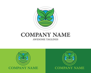 Farm concept for natural farm products logo Design Template Flat Style Design. Vector Illustration
