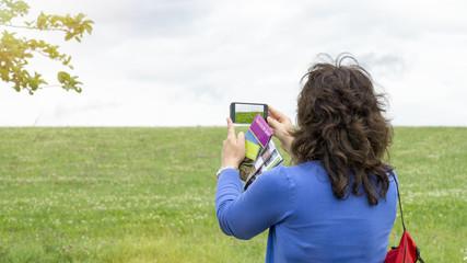 Fotografieren mit dem Smartphone.