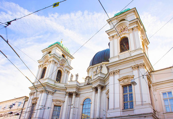 Holy Trinity Church in Salzburg, Austria