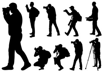 silhouette man photographer, collection