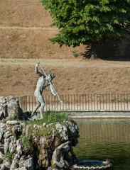 Neptune statue, in the Boboli Garden, Florence.