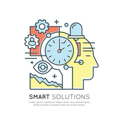 Vector Icon Style Illustration Concept of Time Project Management, Smart Solution, Deadline, Isolated Modern Symbol