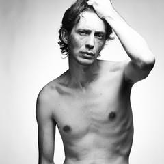 Handsome nude elegant male model