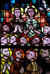 Whitsun in stained glass