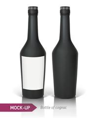 Black bottle of cognac