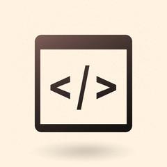 Vector Single Icon - Programming Source Code