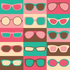 Retro Eyeglasses Checkerboard