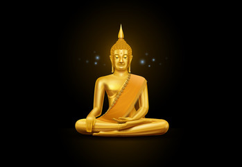 thai art budha and pattern
