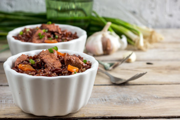 red rice pilaf with chicken