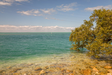 Seashore View in the Keys. Exposure done in this beautiful island of the Keys, USA.