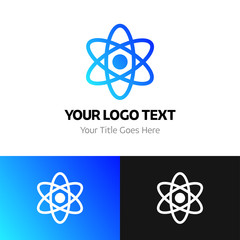 Science logo template. Logo branding for your new corporate company. File can be use vector eps and image jpg formats
