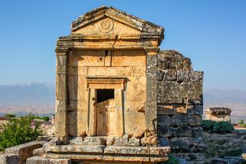 Nekropolis of Hierapolis ancient city view