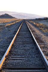 Railroad tracks in the California desert