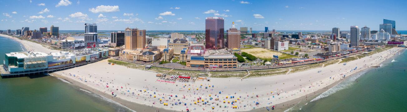 Aerial panorama Atlantic City NJ