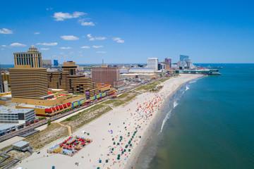 Aerial image Atlantic City NJ and pier