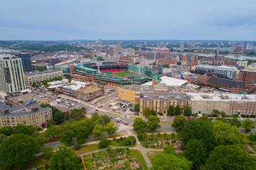 Aerial image of Fenway Park Stadium Red Socks