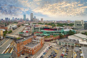 Aerial image of Fenway Park