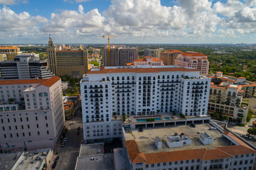 Aerial image Coral Gables business District Downtown