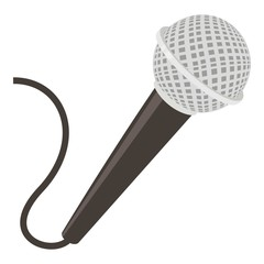 Microphone icon, cartoon style