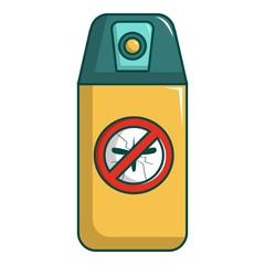 Spray no mosquito icon, cartoon style