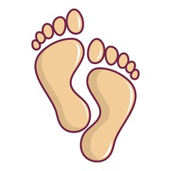 Baby footprints icon, cartoon style